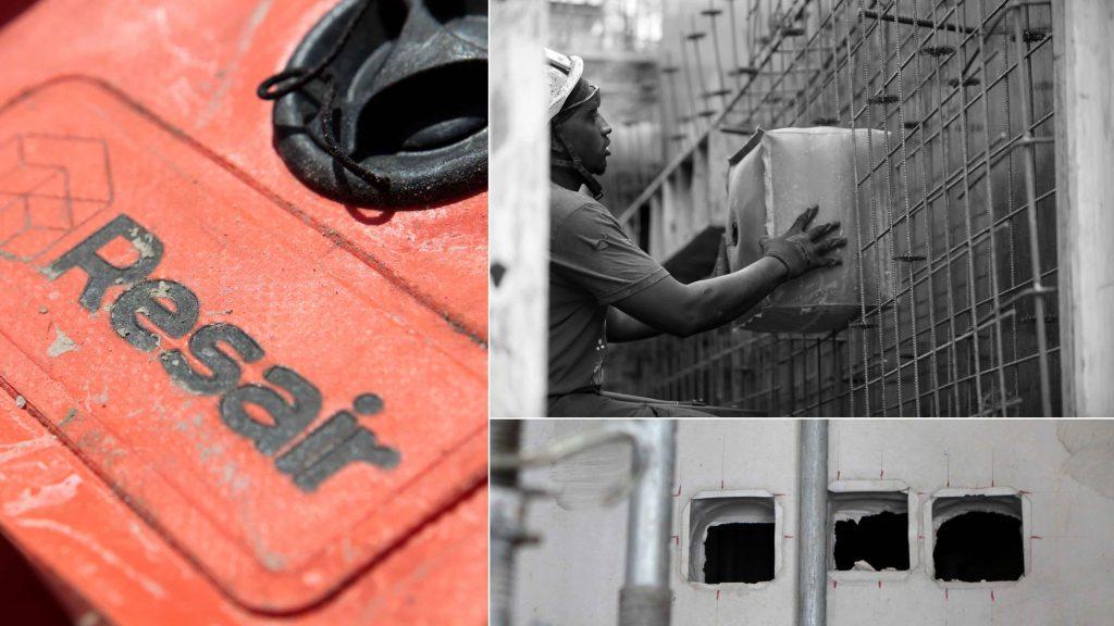 Resair: Arret de bétonnage et outils de réservation technique - Chantier, BTP, gros-oeuvre, coffrage gonflable et reutilisable